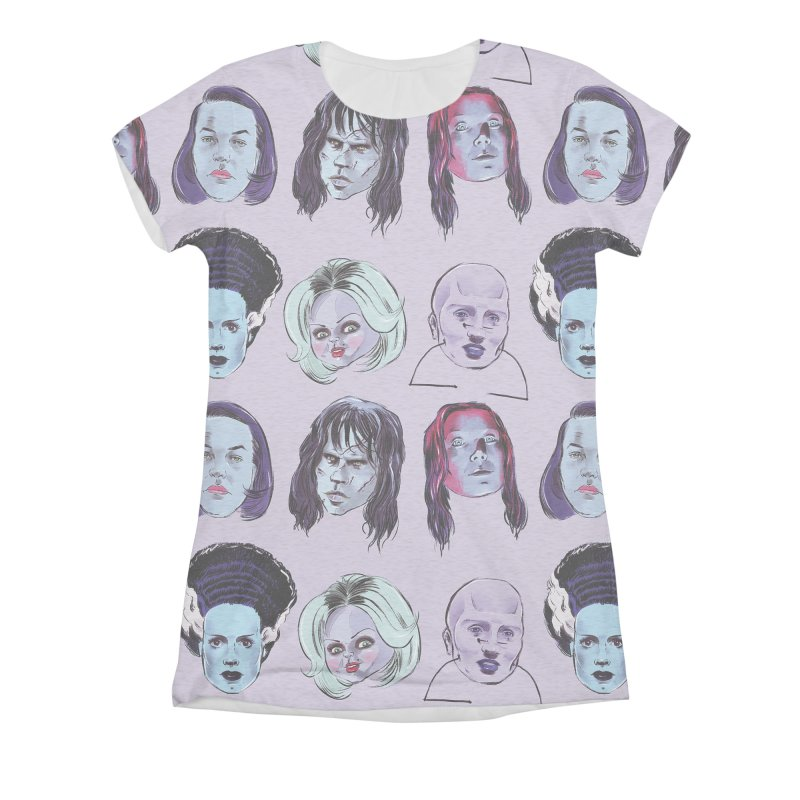 Horror Femmes Women's Triblend All Over Print by Ego Rodriguez