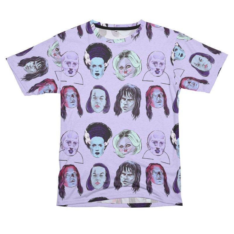 Horror Femmes Women's Unisex French Terry T-Shirt Cut & Sew by Ego Rodriguez