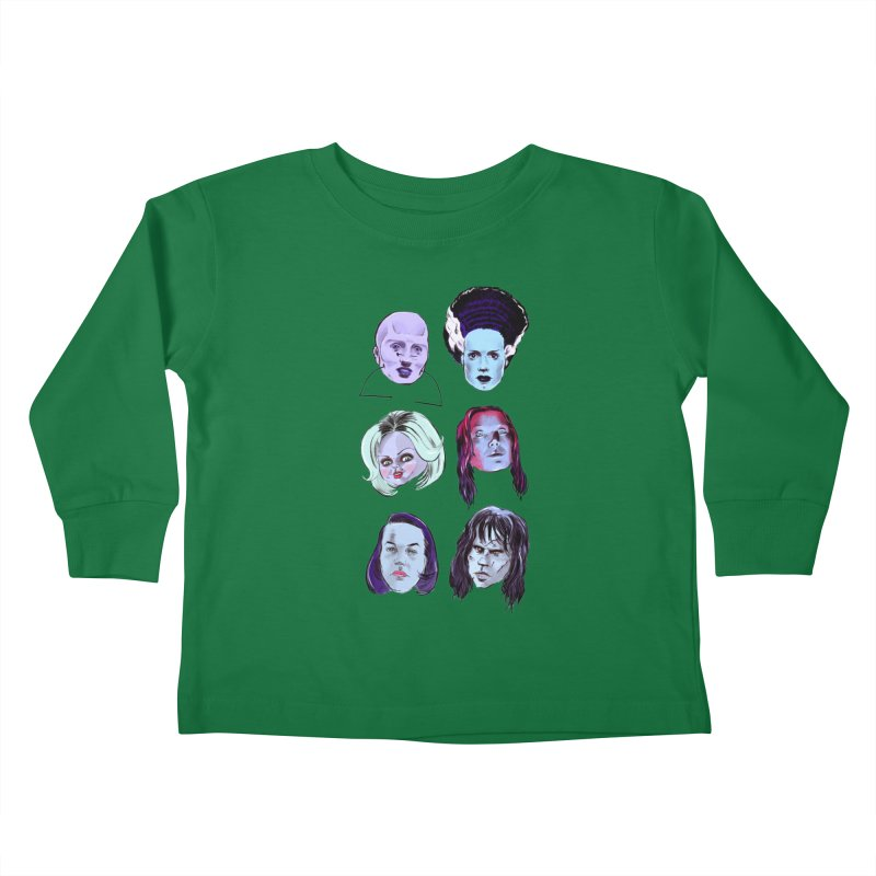 Horror Femmes Kids Toddler Longsleeve T-Shirt by Ego Rodriguez
