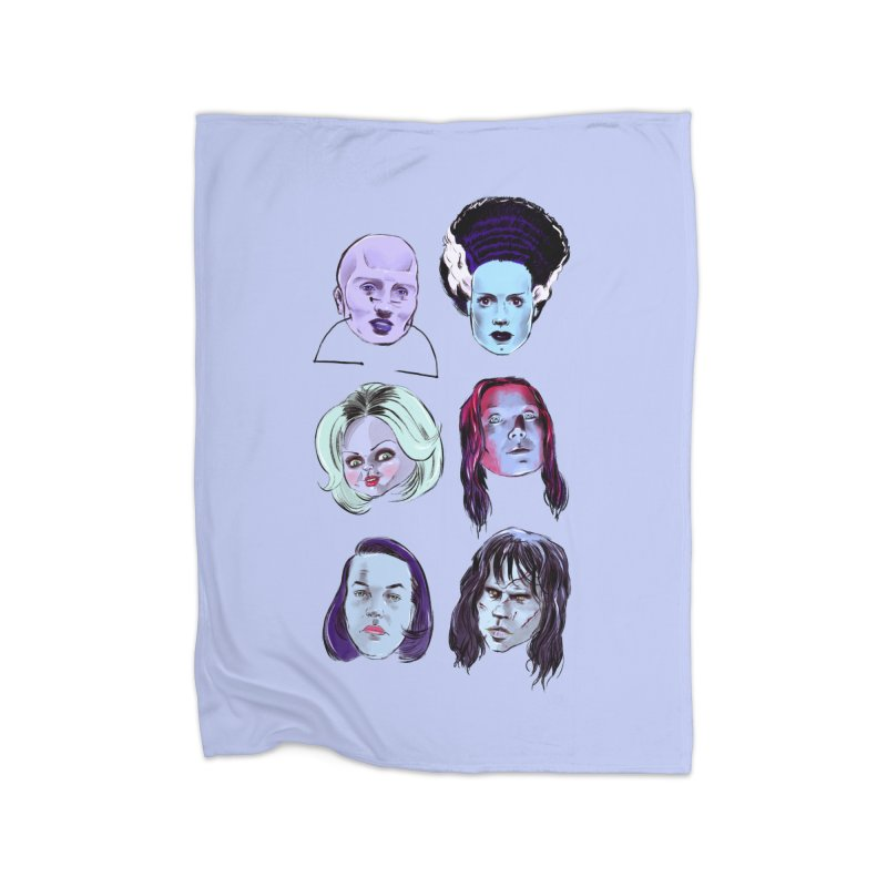 Horror Femmes Home Blanket by Ego Rodriguez