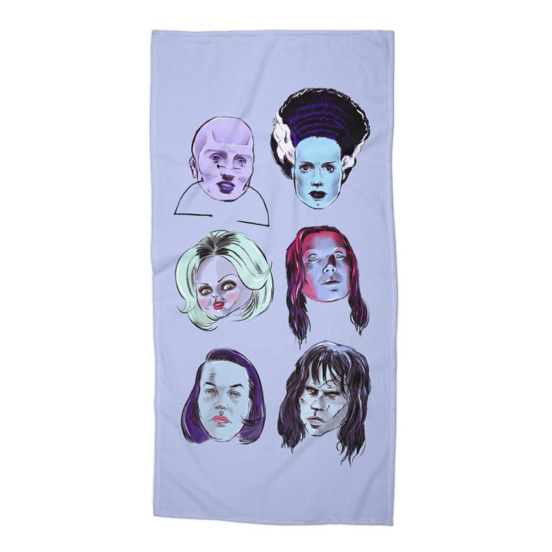 Horror Femmes Accessories Beach Towel by Ego Rodriguez