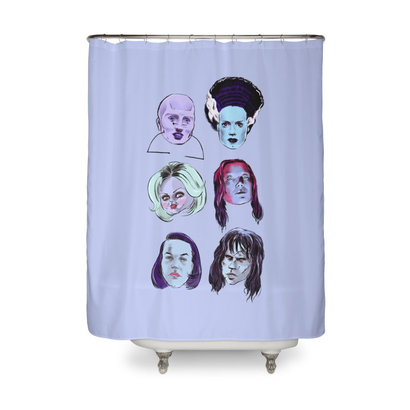 Horror Femmes Home Shower Curtain by Ego Rodriguez
