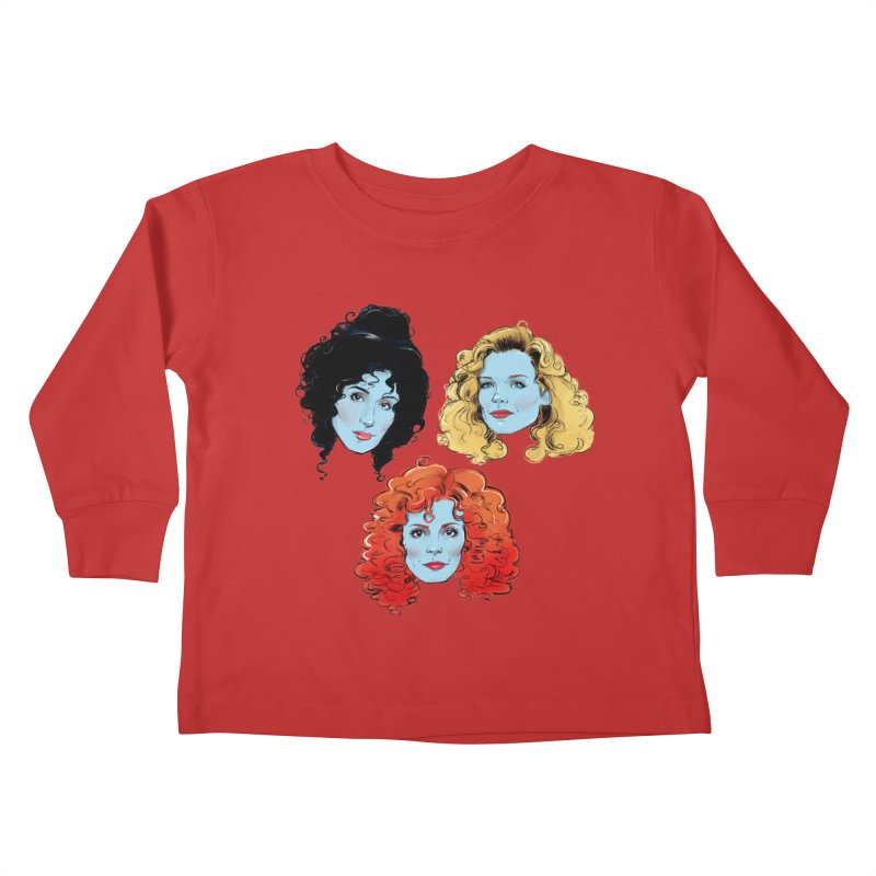 Witches Kids Toddler Longsleeve T-Shirt by Ego Rodriguez