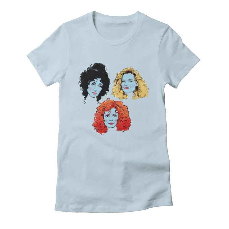 Witches Women's Fitted T-Shirt by Ego Rodriguez