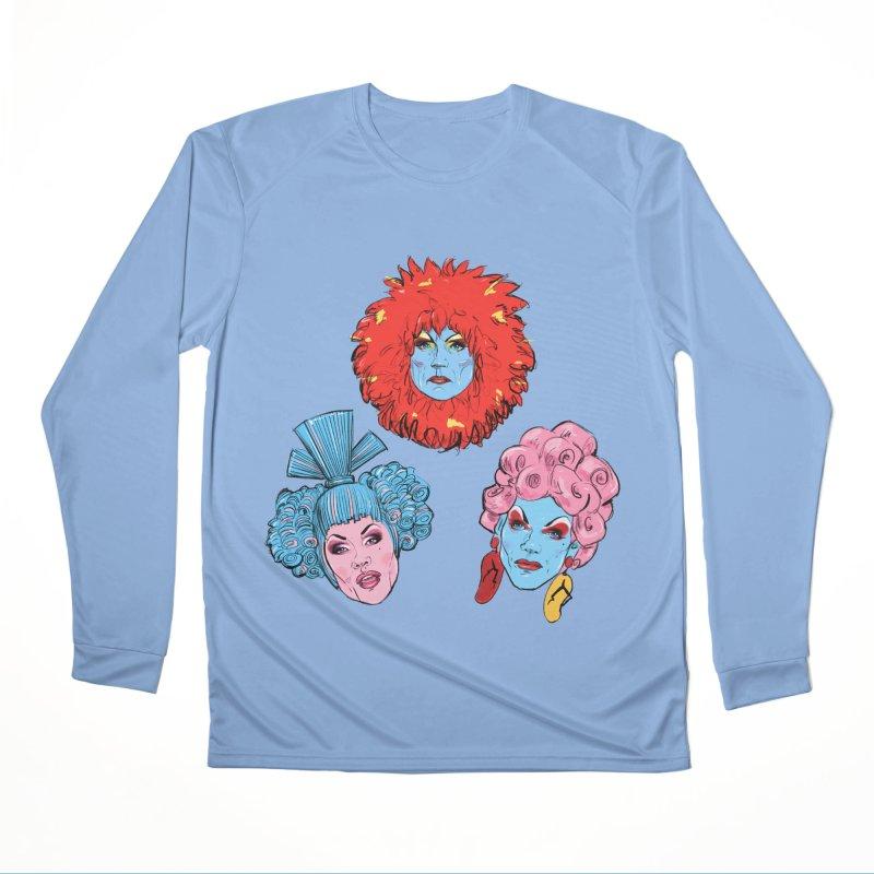 Queens in Men's Performance Longsleeve T-Shirt Bimini Blue by Ego Rodriguez