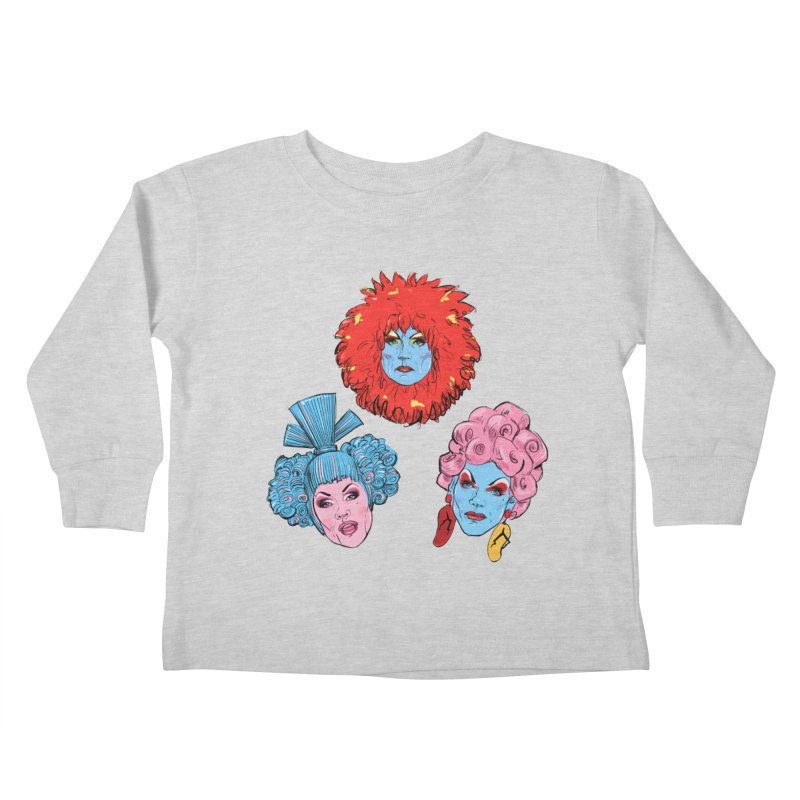 Queens Kids Toddler Longsleeve T-Shirt by Ego Rodriguez