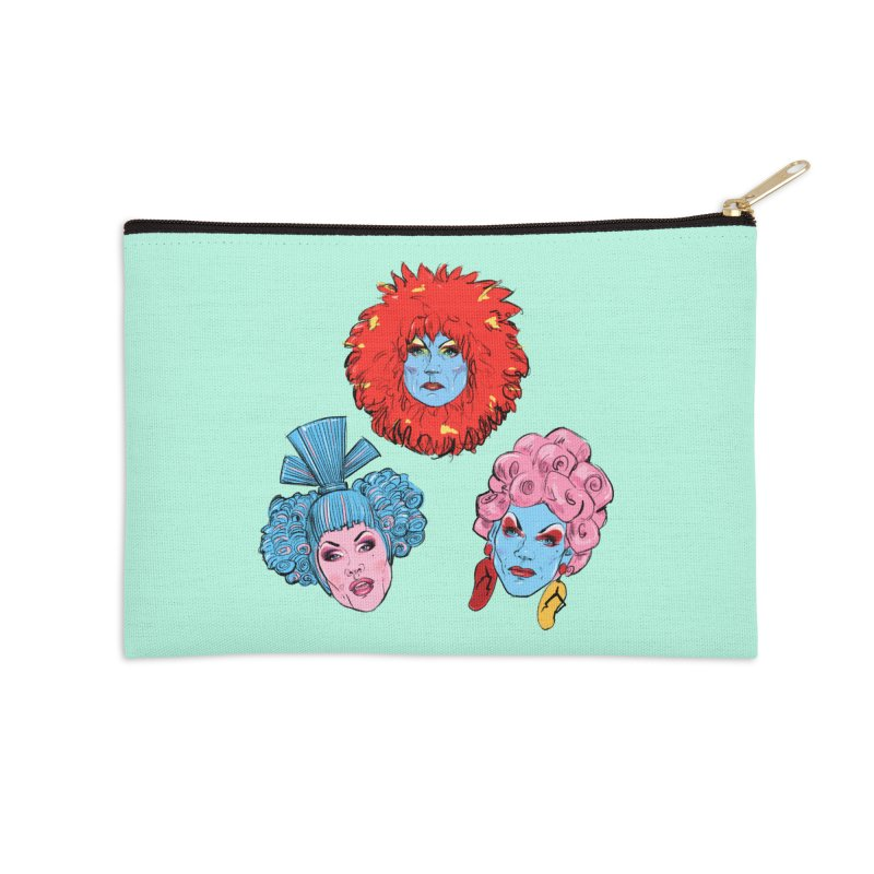Queens Accessories Zip Pouch by Ego Rodriguez