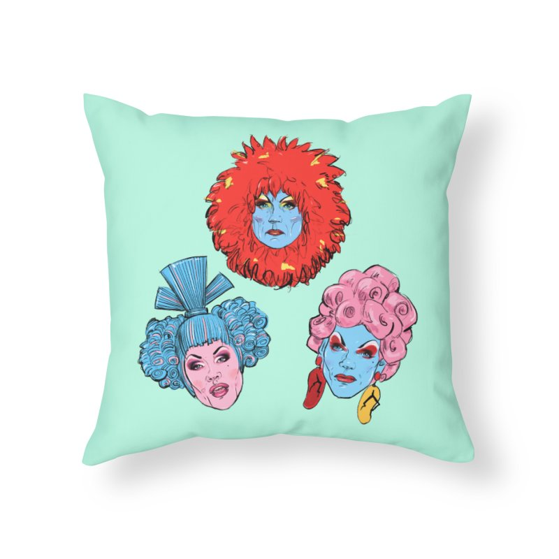 Queens Home Throw Pillow by Ego Rodriguez