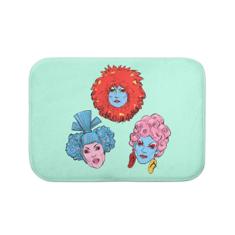 Queens Home Bath Mat by Ego Rodriguez