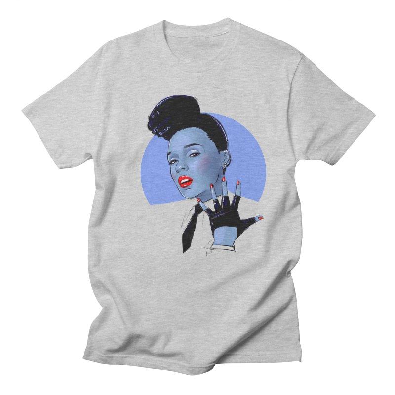Janelle in Men's Regular T-Shirt Heather Grey by Ego Rodriguez