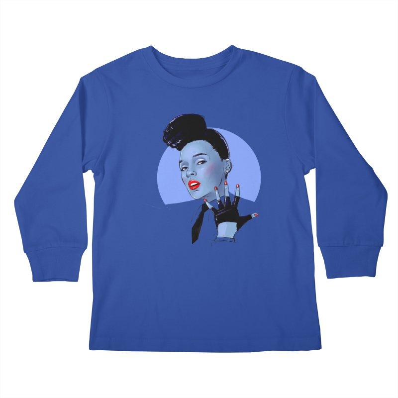 Janelle Kids Longsleeve T-Shirt by Ego Rodriguez