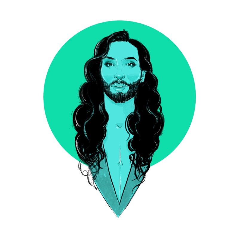 Conchita Men's T-Shirt by Ego Rodriguez