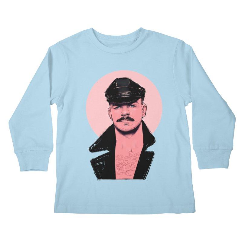 Chad Kids Longsleeve T-Shirt by Ego Rodriguez