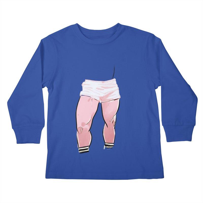 Legs Kids Longsleeve T-Shirt by Ego Rodriguez