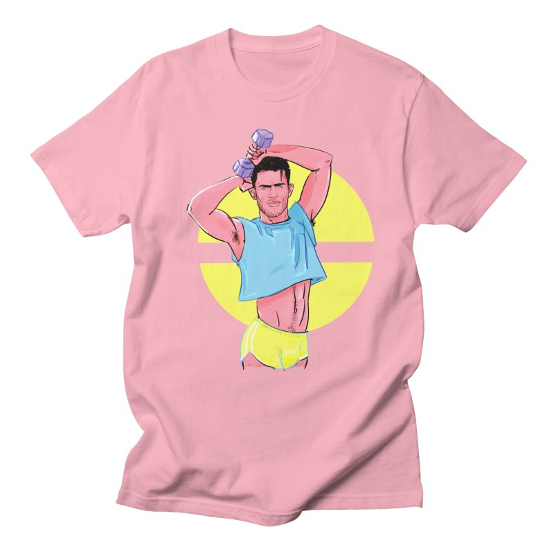 Sweat in Men's T-Shirt Light Pink by Ego Rodriguez