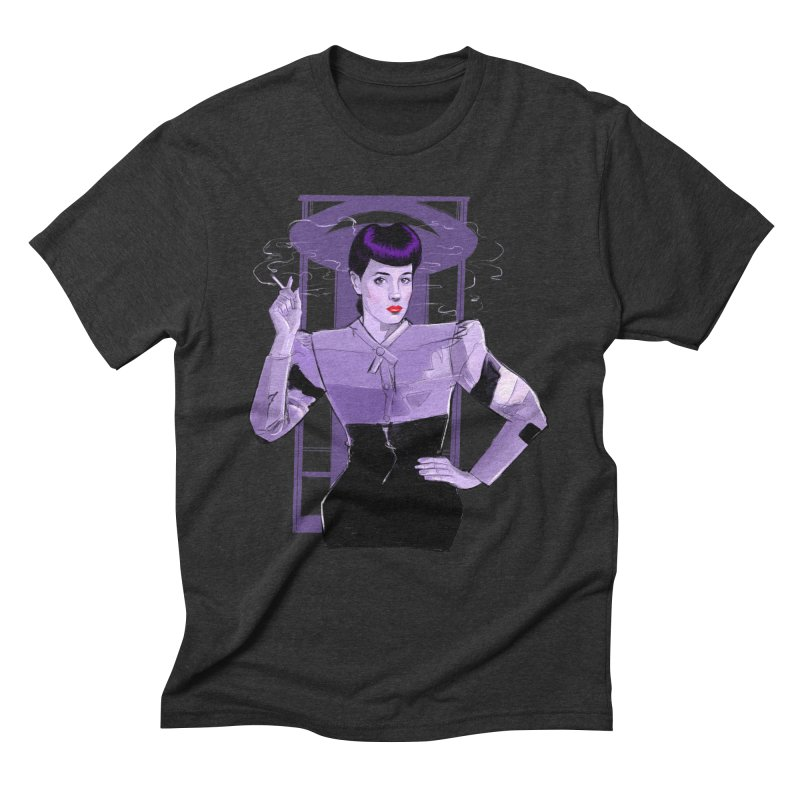 Rachael in Men's Triblend T-Shirt Heather Onyx by Ego Rodriguez