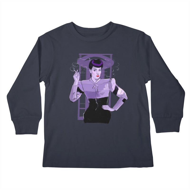 Rachael Kids Longsleeve T-Shirt by Ego Rodriguez