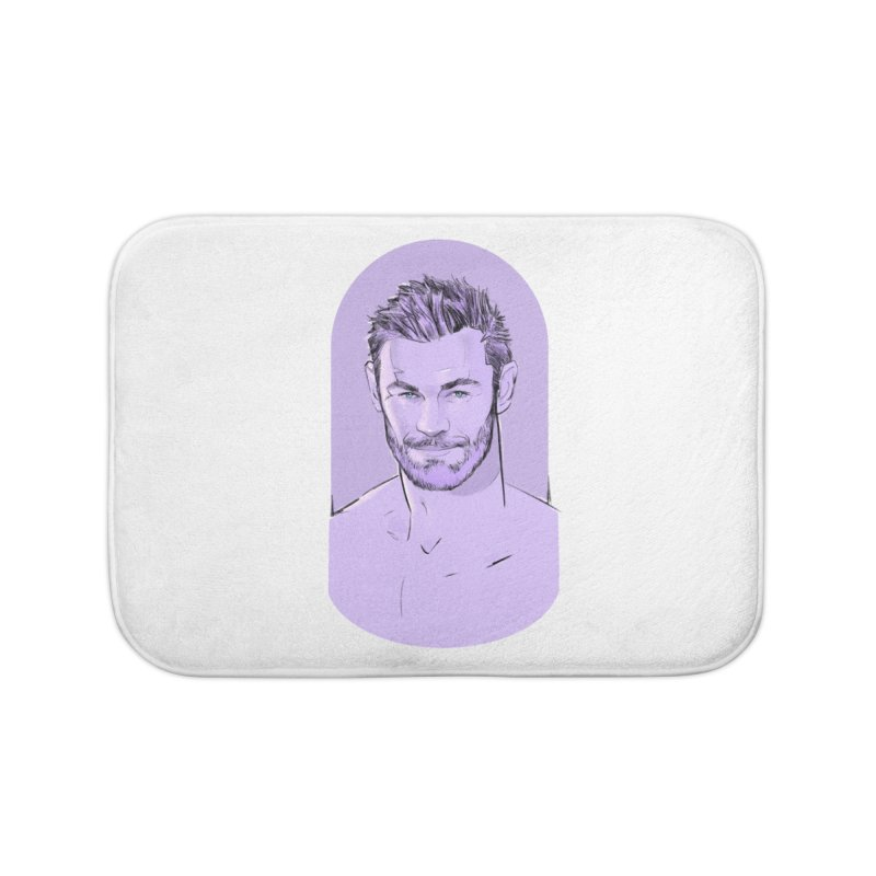 Naughty Chris Home Bath Mat by Ego Rodriguez