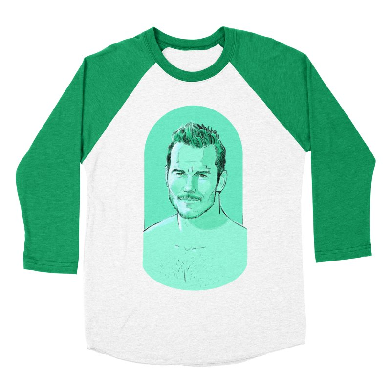 Cheeky Chris Women's Baseball Triblend T-Shirt by Ego Rodriguez