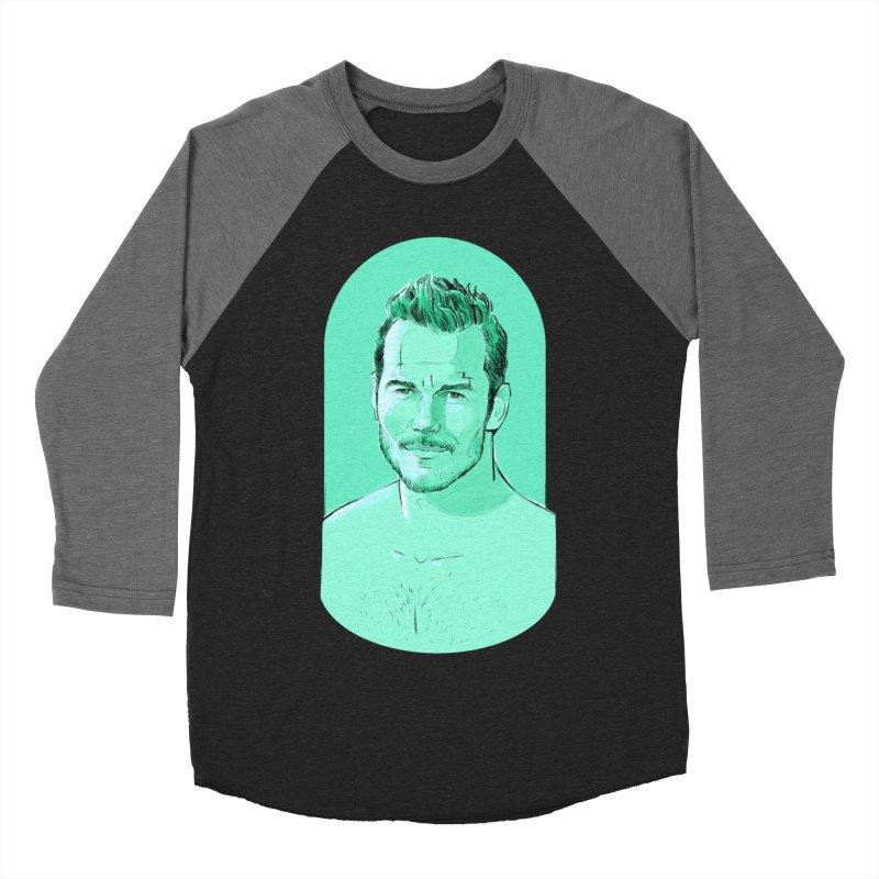 Cheeky Chris Men's Baseball Triblend T-Shirt by Ego Rodriguez