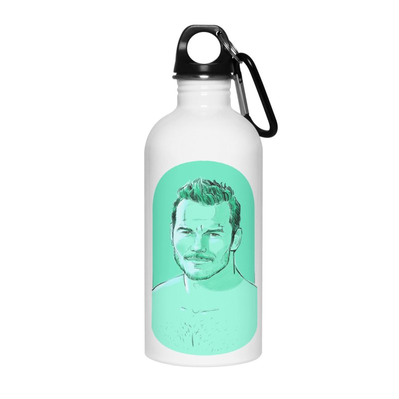 Cheeky Chris Accessories Water Bottle by Ego Rodriguez