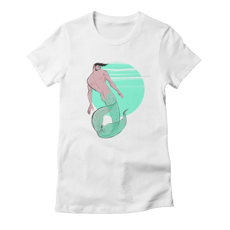 Coral Women's Fitted T-Shirt by Ego Rodriguez