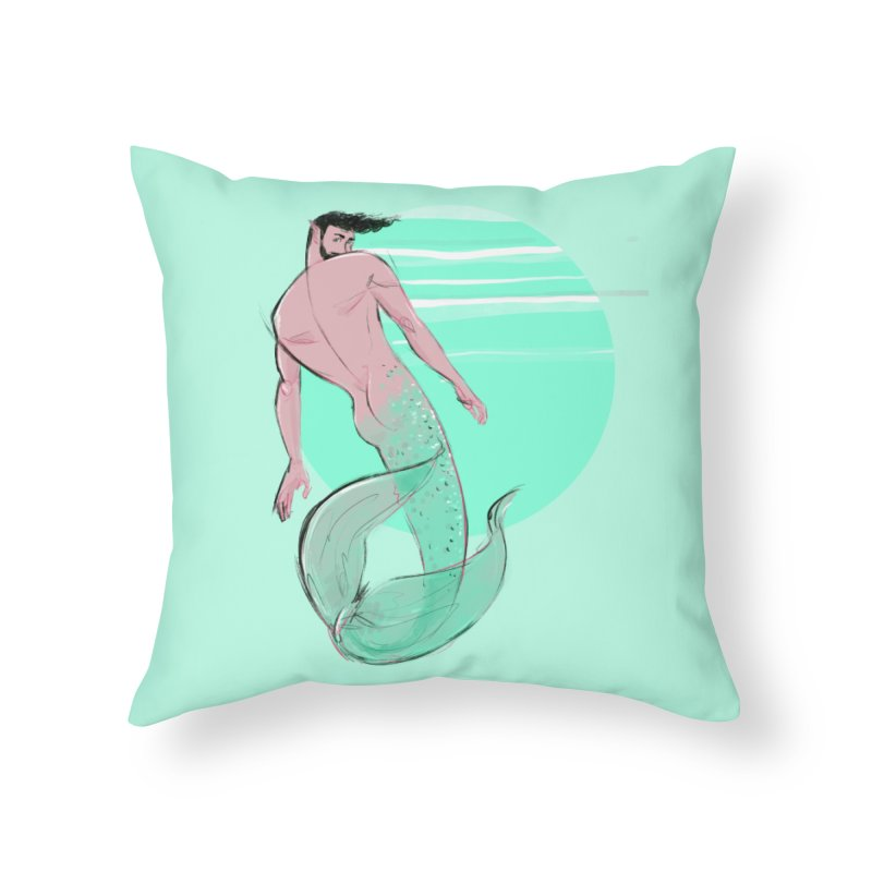 Coral Home Throw Pillow by Ego Rodriguez