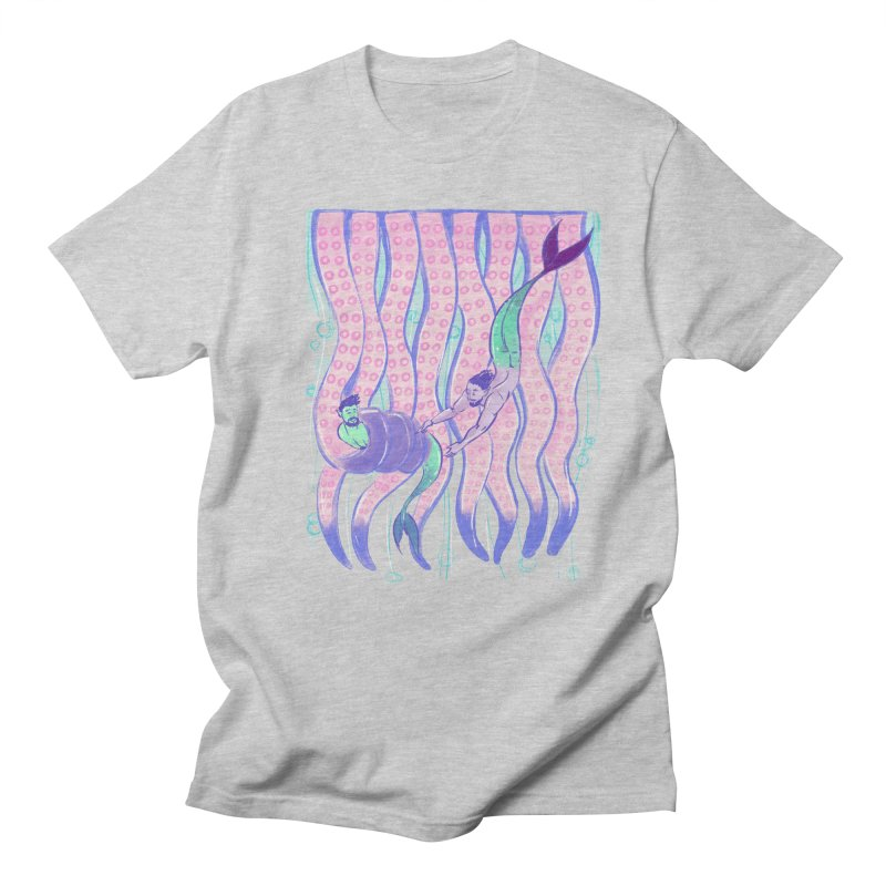 Tentacles in Men's T-Shirt Heather Grey by Ego Rodriguez