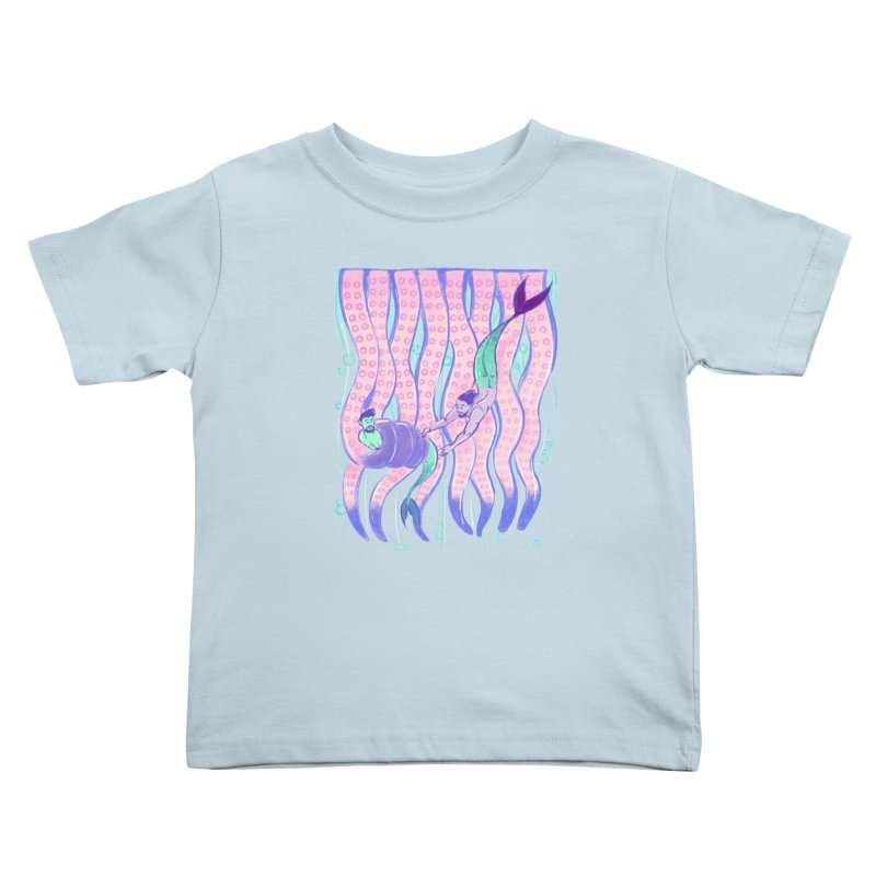 Tentacles Kids Toddler T-Shirt by Ego Rodriguez