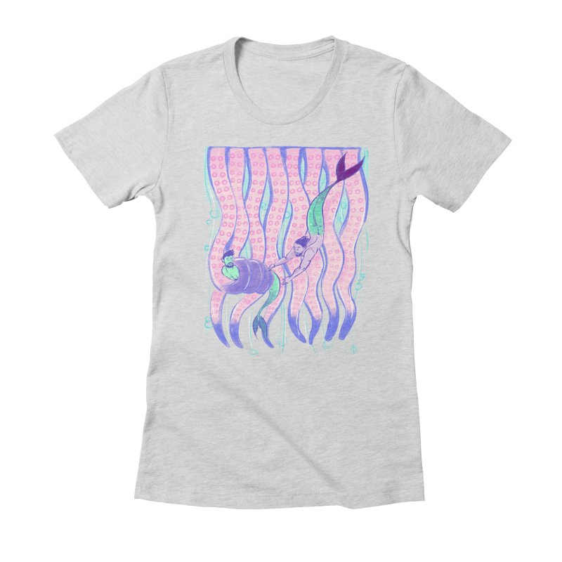 Tentacles Women's Fitted T-Shirt by Ego Rodriguez