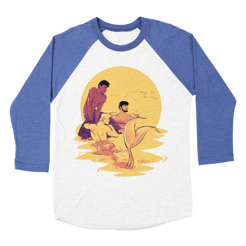 Waiting Men's Baseball Triblend T-Shirt by Ego Rodriguez