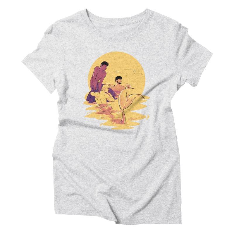 Waiting Women's Triblend T-Shirt by Ego Rodriguez
