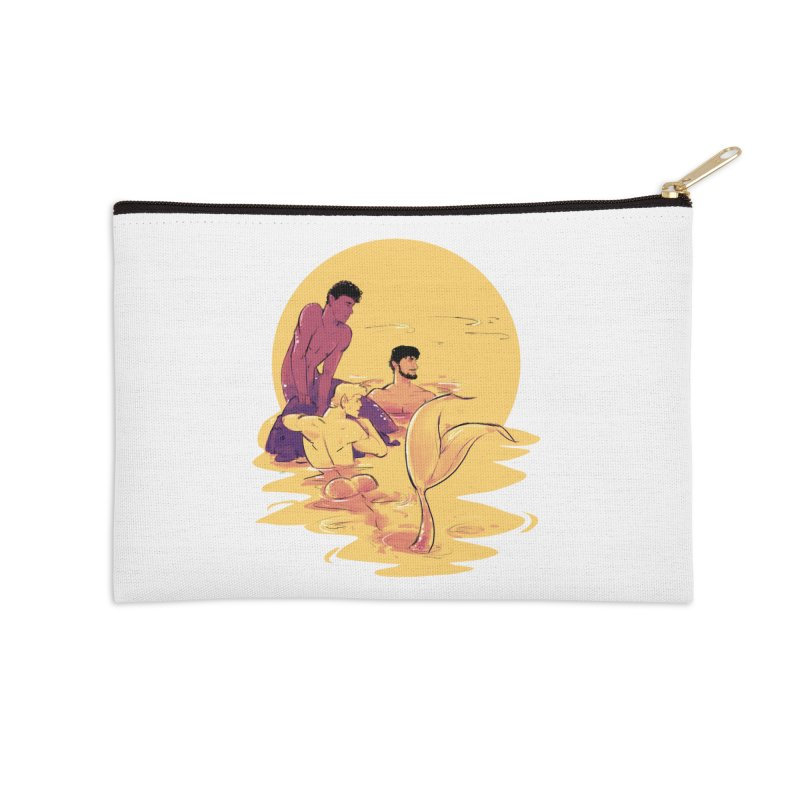 Waiting Accessories Zip Pouch by Ego Rodriguez