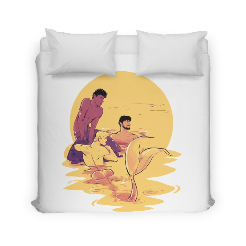 Waiting Home Duvet by Ego Rodriguez