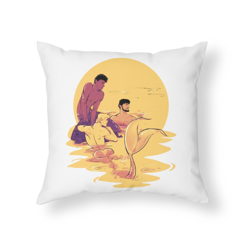 Waiting Home Throw Pillow by Ego Rodriguez