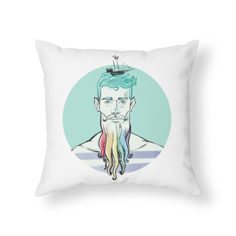 PRIDE Neptune Home Throw Pillow by Ego Rodriguez