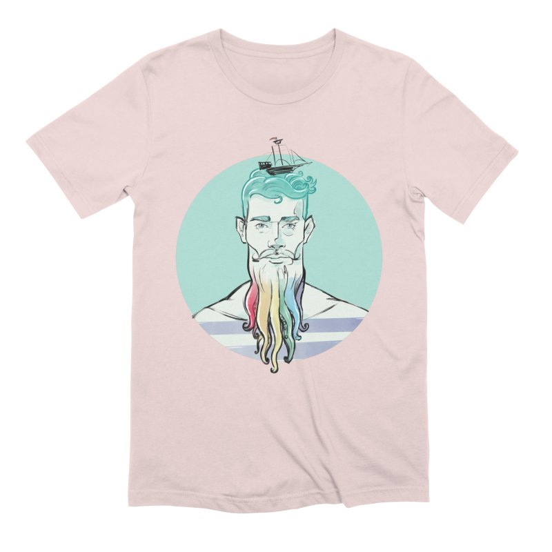 PRIDE Neptune in Men's Extra Soft T-Shirt Soft Pink by Ego Rodriguez