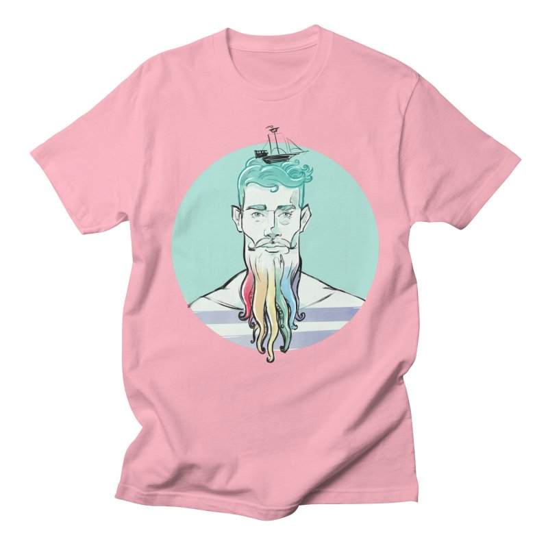 PRIDE Neptune in Men's T-Shirt Light Pink by Ego Rodriguez