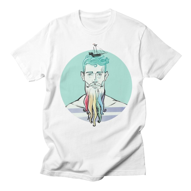 PRIDE Neptune in Men's T-Shirt White by Ego Rodriguez