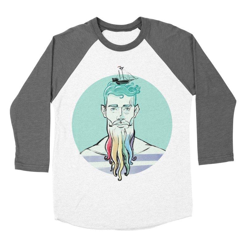 PRIDE Neptune Men's Baseball Triblend T-Shirt by Ego Rodriguez