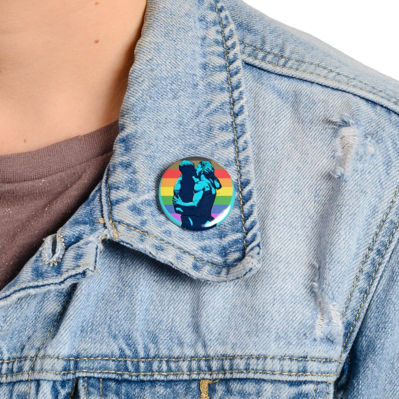 PRIDE Kiss Accessories Button by Ego Rodriguez