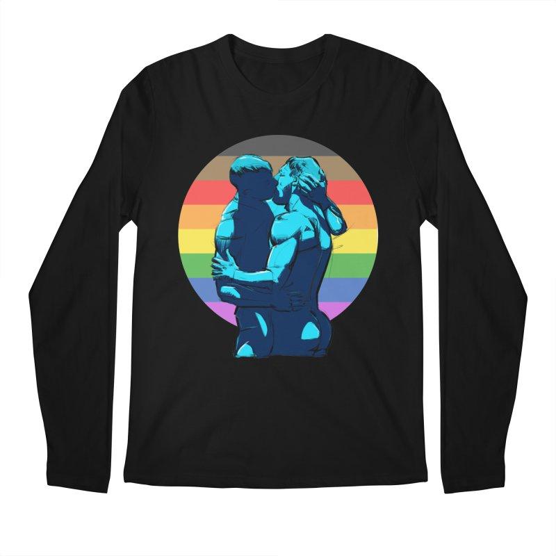 PRIDE Kiss Men's Longsleeve T-Shirt by Ego Rodriguez