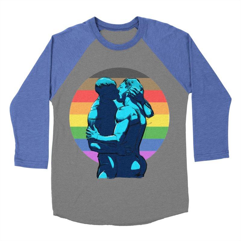 PRIDE Kiss Women's Baseball Triblend T-Shirt by Ego Rodriguez
