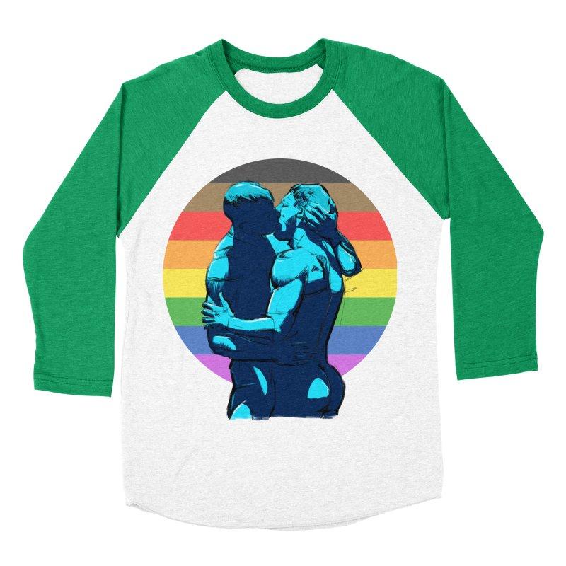 PRIDE Kiss Men's Baseball Triblend T-Shirt by Ego Rodriguez