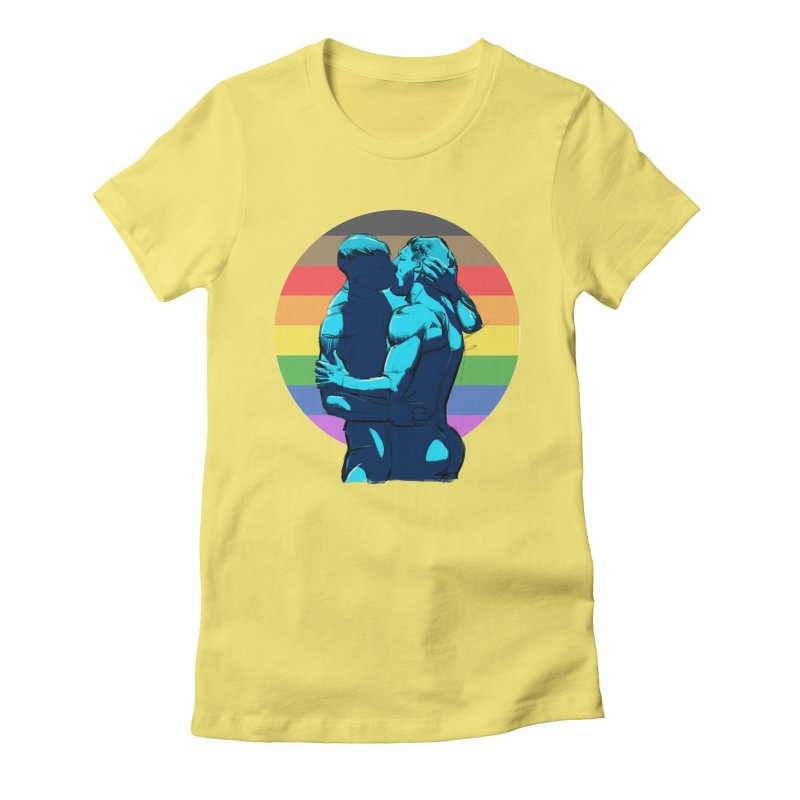 PRIDE Kiss Women's Fitted T-Shirt by Ego Rodriguez