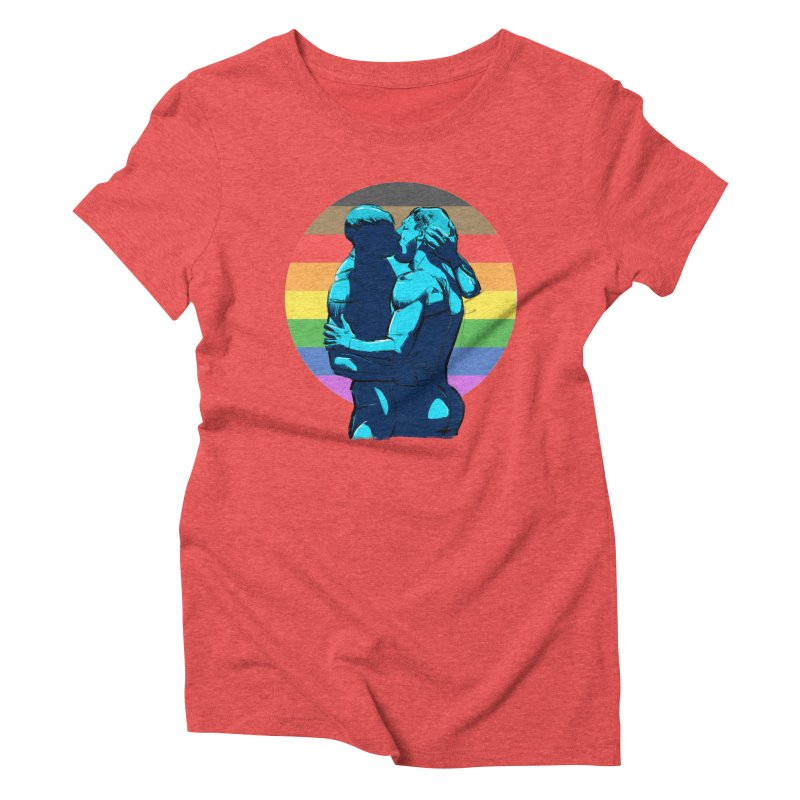 PRIDE Kiss Women's Triblend T-Shirt by Ego Rodriguez