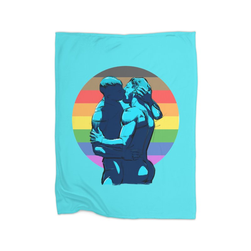 PRIDE Kiss Home Blanket by Ego Rodriguez