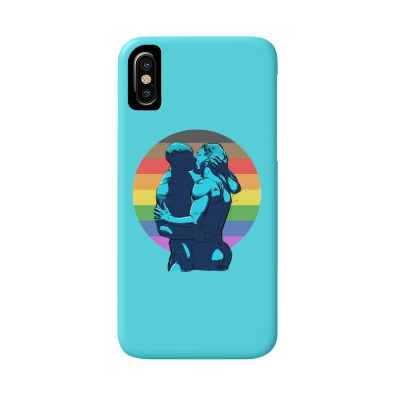 PRIDE Kiss in iPhone X Phone Case Slim by Ego Rodriguez