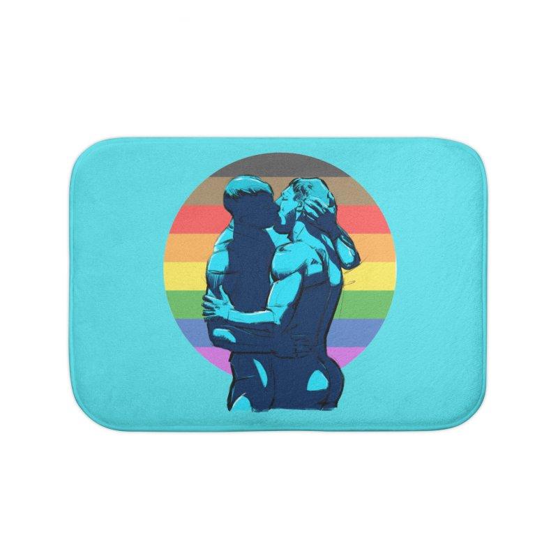PRIDE Kiss Home Bath Mat by Ego Rodriguez