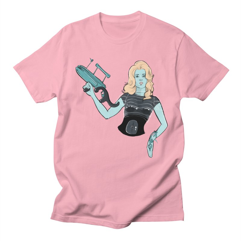 Barbarella in Men's T-Shirt Light Pink by Ego Rodriguez's Shop